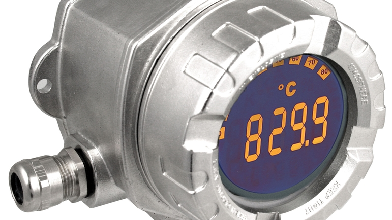 Loop-powered process indicator RIA14 for field installation